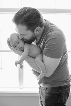 Daddy and Emerson in window (1 of 1)